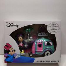 Disney Miniature Statuaries Kit MINNIE Mouse Camper Fairy Garden NIB