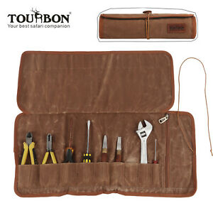 Tourbon Hardware Tools Organizer Roll Mat Pliers Spanner Pouch Pocket Wax Canvas