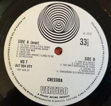 Cressida LP Same UK Vertigo swirl 1st press PLAYS SUPERB & TOP PROG
