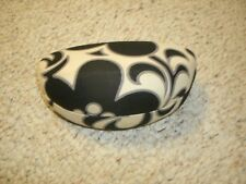 Vera Bradley Night & Da Black White Floral hard-shell large sunglass case