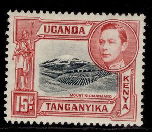 KENYA UGANDA TANGANYIKA GVI SG137a, 15c black & rose-red, M MINT.