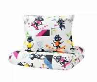 Kids IKEA LATTJO Cat/Multicolour Quilt Cover 150x200cm and Pillowcase 50x80cm