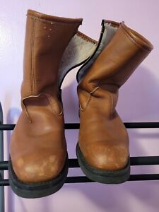 Field & Stream Insulated Sherpa Lined Vintage Hunting Leather Boots Sz 9 D968
