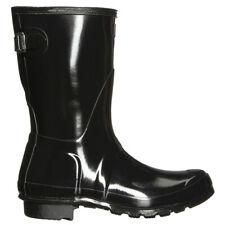 Hunter Original Back Adjustable Short Gloss Rubber Waterproof Womens Boots