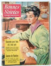 ► BONNES SOIREES 1740 du 12 Juin1955 - PAUL MEURISSE - JEANNE DE FLANDRE