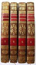 Crasset Ed 1827 Considérations Chrétiennes pour toute l'année - COMPLET 4 Tomes