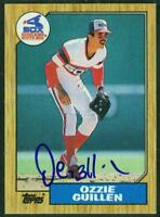 Original Autograph of Ozzie Guillen of the White Sox on a 1987 Topps Card