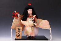 Japanese Real Gofun Kyo Doll -Kawaii Gosho Doll- Ichimatsu Style