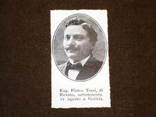 WW1 Prima Guerra Mondiale 1914 - 1918 Caduto Pietro Torri di Rovato