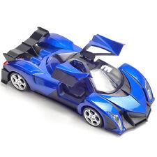 Devel Sixteen Gifts Diecast Car Model 1:32 Toy Sound&Light Alloy Blue New
