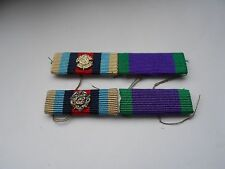 two modern medal ribbon bars both  with two rosette [ B]