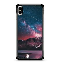 Outer Space Magnificent Mountains Red Blue Starry Galaxy Sky 2D Phone Case Cover