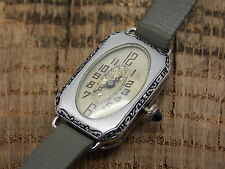 Beautiful Vintage Antique Swiss Made Ladies 15 Jewels Watch nickel plated