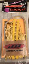 New & Sealed * Debeer Lacrosse Yellow Women'S Trakker Pro Stringing Kit *