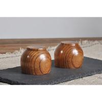20x Wooden Cup Tea Ceremony Wood Teacup Water Coffee Wine Drinking Mug 50ML