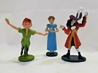 Disney Peter Pan Figures Peter Pan, Wendy and Captain Hook Lot of 3