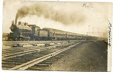 RPPC NJ New Jersey Postmarked 1907 Newark to Robbinsville Locomotive Train