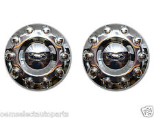 "OEM NEW 2005-2016 Ford F-450, F-550 FRONT 19.5"" Wheel 2WD Chrome Center Cap PAIR"