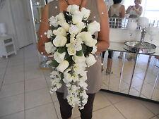 cascading gorgeous custom bouquet silk flowers hundreds sold