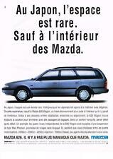 PUBLICITE  ADVERTISING   1991   MAZDA    LA 626  WAGON