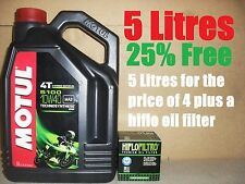 5L MOTUL 5100 10W40 OIL & HF204 FILTER YAMAHA R1 2007 2008 2009 2010 2011 2012