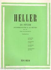 Heller: 24 Studi D' Espressione e Di Ritmo Per Pianoforte (Tagliapietra) Ricordi