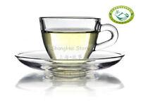 GlowHi Heat Resistant Glass Tea /coffee cup w/Saucer D06 100ml 3.4 fl oz