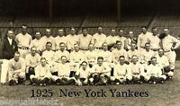 1925 New York Yankees Photo World Series Babe Ruth Lou Gehrig Miller Huggins