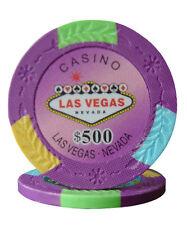 100pcs Four Tone Las Vegas Design Poker Chips $500