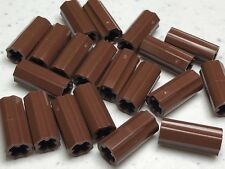 LEGO Technic Axle Connector 2L Smooth x Hole + Orientation 6538c Reddish Brown