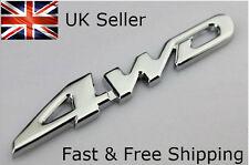 4wd Silver Chrome 3D Emblem Badge 4x4 Four Wheel Drive Car Sticker Logo Decal