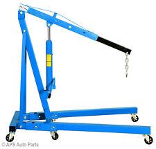 2 Ton Hydraulic Folding Engine Crane Hoist Lift Stand 2000kg Garage Workshop