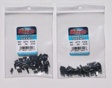 FREE USA SHIPPING...72 MASON 4D HEAVY DUTY BLACK CONNECTOR SLEEVES
