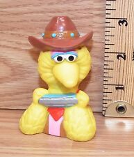 "Genuine Applause Muppets ""Cowboy Big Bird"" Finger Puppet Toy Only **READ**"