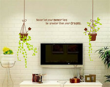 Potted Bracketplant Home Room Decor Removable Wall Stickers Decal Decoration
