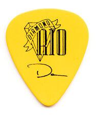 Diamond Rio Danny Gregg Signature Yellow Guitar Pick - 1990s Tours