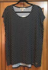 NWT MICHAEL KORS BASICS BLACK WHITE POLKA DOT Womens Plus Size 2x MSRP $54