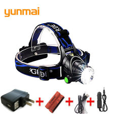 USB High Power LED Headlamp 3800lm CREE XML T6 Rechargeable 18650 Battery Zoom