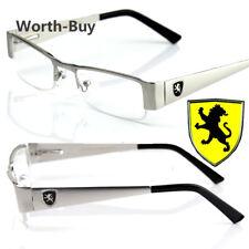 Khan Mens Women Clear Fake Lens Rectangular Eye Glasses Nerd Retro Fashion Frame