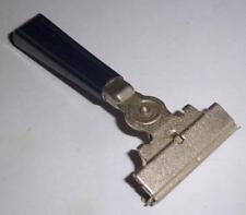 vintage Schick 66 Eversharp injector Razor blue handle silver textured head deco