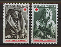 FRANCIA/FRANCE 1973 MNH SC.B471/472 Tomb of Tonnerre,Red Cross