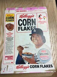 1973 Kellogg's Corn Flakes Empty Box Fernando Valenzuela Cover