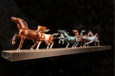43'' top brass copper fine workmanship home decor auspicious animal eight horse