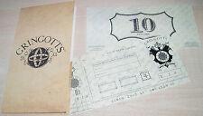 New Gringotts Bank Note $10 & Wallet Harry Potter Diagon Alley Universal 2014