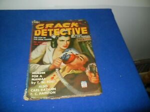 VINTAGE PULP MAGAZINE - CRACK DETECTIVE-1942-SEE PICTURES