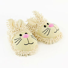 Bunny Slippers - White Aroma Home Fuzzy Friends Rabbit Slippers