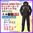 SHIMANO NEXUS GORETEX WINTER SUITE LIMITED PRO RB-111Q M/LBLACK Jacket Japan FS