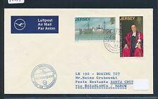 95249) LH FF Casablanca - Santa Cruz Spanien 5.11.71, cover Jersey GB/UK