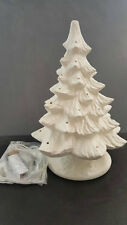 Ceramic Bisque Christmas Tree Ready to Paint Diy U-Paint 12.5 inch Wiring Kit