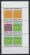 Pays-Bas Nederland 1973 une feuille 6 timbres neufs au profit de l'enfance /T789